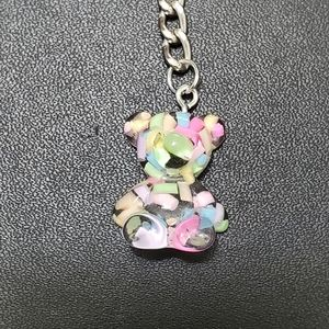 Fun gummy bear keychain